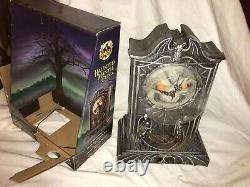 Halloween prop HAUNTED MANTEL CLOCK. REAL CLOCK. Plus animates, lights/sounds