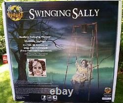 Halloween prop by spirit swinging Sally decrepit doll animatronic new in box