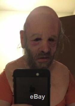 Halloween realistic halloween Silicone Mask old man Bearded prop like SPFX CFX