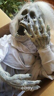 Hanging Skeleton ghoul ghost halloween prop spencers quality made latex old 2003