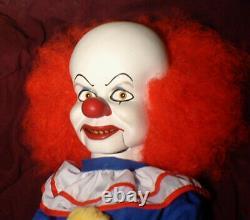 Haunted Ventriloquist It Clown Doll EYES FOLLOW YOU Creepy, Dummy, Puppet OOAK