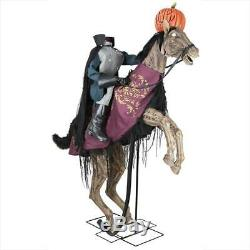Headless Horseman 91 In Halloween Decorations Headless Rider With Power Outlets