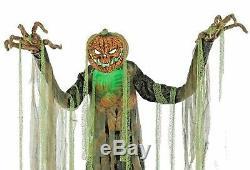Huge 7-Ft ANIMATED ROOT OF EVIL Pumpkin Head Scarecrow Halloween Prop Decoration