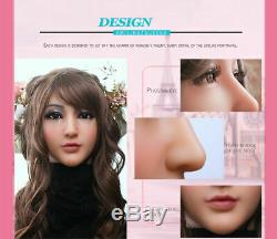 IMI Realistic Silicone Female face Masks for Crossdresser Masquerade Cosplay