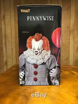 IT CLOWN Halloween 6.5 Ft Pennywise Animatronic Decoration Halloween Prop Spirit