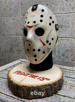 Jason Mask & Stand Friday The 13th Jason Voorhees Mask Prop Horror Halloween