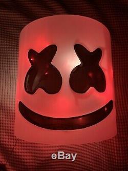 LED MarshMello Light Up Mask Full Head Helmet Costume SEE VIDEO Next Day Avail