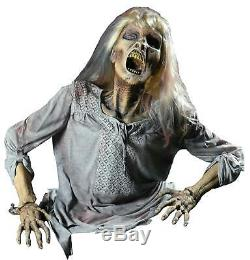 LIFE SIZE ANIMATED Grave Buster CORPSE ZOMBIE Frightronic OUTDOOR HALLOWEEN PROP
