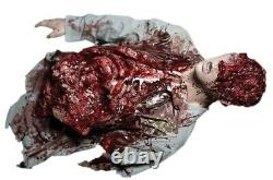 Leftovers Half Cut off Severed Body Prop Halloween Gory Bloody Zombie Attack
