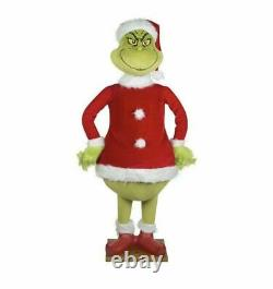 Life Size Animated GRINCH 5.74 Ft Christmas Prop SPEAKS GRINCH PHRASES Gemmy