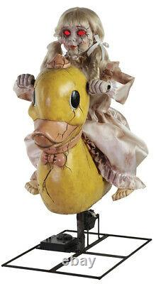 Life Size Rocking Ducky Doll Animated Halloween Prop Haunted House Decor Spirit
