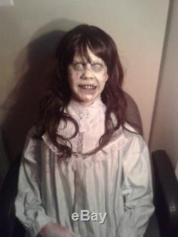 Life size regan exorcist figure animated halloween prop
