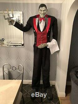 Lifesize Animated 7 Foot Tall Lurch The Butler Halloween Prop Display Talks
