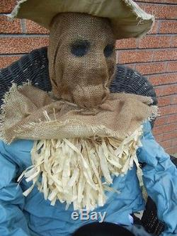 Lifesize Animated Sitting Up Attacking Scarecrow Candy Server Halloween Prop