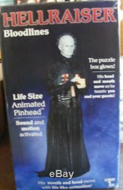 Lifesize Hellraiser Pinhead Animatronic Halloween Horror Figure Nib Sealed