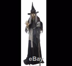 Lunging Haggard Witch Animated Life Sized Animated Sound Halloween Prop