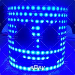 MarshMello DJ Maske Full Head Tiesto LED Helm Party Bar Cosplay Prop Halloween