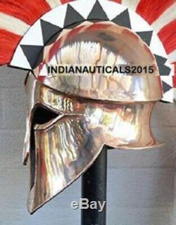 Medieval Wearable Greek Corinthian Knight Spartan Helmet Halloween Day Gift Prop