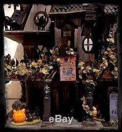 Miniature Haunted Gothic House Dollhouse 124 OOAK Black Cats Society
