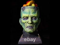 Monster Bowl Prop Head Frankenstein Halloween Candy Dish Zombie Alien Bust Fruit