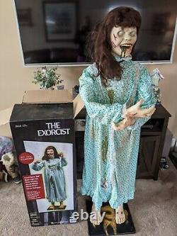 Morbid enterprises exorcist Reagan 5-ft Halloween prop animated light-up sound