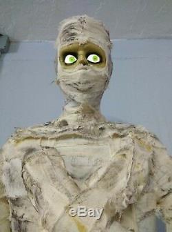 Mummy 6 Ft Halloween Gemmy Animatronic Life Size Prop Motion Activated 6