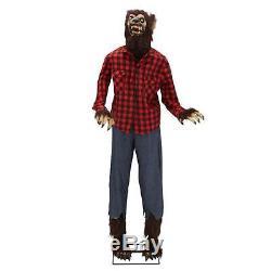 New 74.8 Animated Werewolf Dad Halloween Prop Yard Decoration Sound Effects