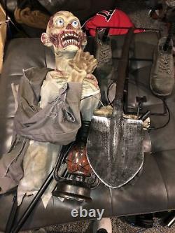 Night Digger Halloween Prop Spirit Rare Htf Gemmy Animated Prop Morbid Lifesize