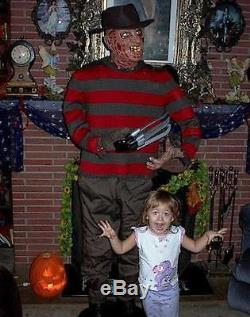 Original Animated Lifesize Freddy Krueger Halloween Prop Figure Awesome Vhtf