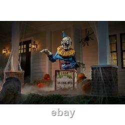 Outdoor Holiday Halloween Decor 6 Ft. Animated Led Jack-in-the-box Gigantic