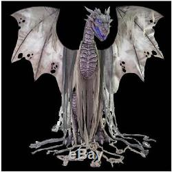 PRE ORDER EARLY! LIFESIZE 7 FT ANIMATED WINTER DRAGON Halloween Decoration Prop