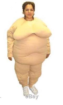PROFESSIONAL FEMALE FAT SUIT padding MASCOT Costume Halloween prop