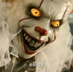 Pennywise the Clown Life Size 6' Animated Halloween Prop from IT Movie IN STOCK