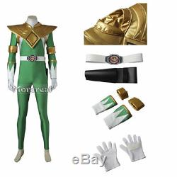 Powerful Ranger Costume Zyuranger Burai Dragon Cosplay Outfit Men Halloween Prop