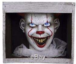 (Pre-Order!) ANIMATED HAUNTED PENNYWISE CLOWN In SEWER IT HALLOWEEN PROP! New