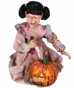 Pre-Order ANIMATED LUNGING PUMPKIN CARVER Halloween Prop FREE GIFT