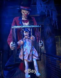 Pre-Order ANIMATED ROTTEN RINGMASTER CLOWN WITH KID Halloween Prop
