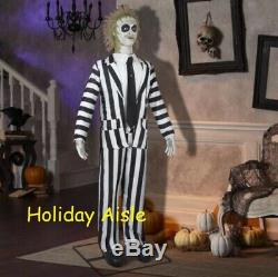 Pre-Order GEMMY 6 FT ANIMATED BEETLEJUICE Halloween Prop FREE GIFT