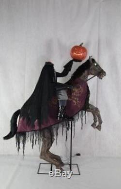 Pre-order 7 FT Animated HEADLESS HORSEMAN ON HORSE Halloween Prop LEGS KICK