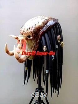 Predator Mask Costume Halloween Full Face Prop Cosplay Adult Latex Alien vs AVP