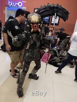 Prop Fancy Film Dress Predator Costume Mask Cosplay Latex Halloween Decor