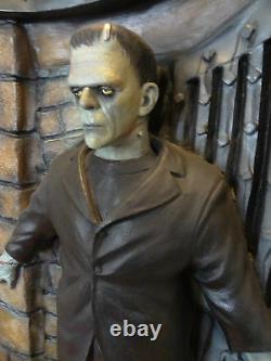 RARE Life Size Boris Karloff Frankenstein Doorway Spencer Display Halloween Prop