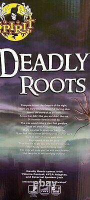Rare 2017 Spirit Halloween DEADLY ROOTS Life Size animatronic Prop NEW IN BOX
