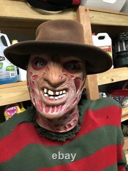 Rare Gemmy Animated Spirit Halloween Lifesize Elm St Freddy Krueger For Parts