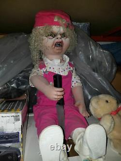 Rare! NOSDistortions Evil DollPnuematic Prop! Halloween, Haunted House, Animated