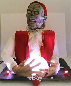 Rare Spirit Halloween Fortune Misfortune Teller Life Size Animatronic Prop