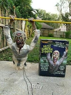 Rare Spirit Halloween Prop Animatronic Head Banger Zombie Decoration With Box