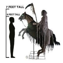 Reaper's Ride Animated Prop Lifesize Halloween Horseman Animatronic Haunted