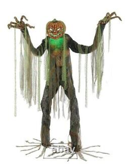 Root of Evil Animated Prop 7' Lifesize Scarecrow Pumpkin Halloween Decoration