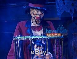 Rotten Ringmaster Clown Caged Kid Animated Prop Life size Halloween Animatronic